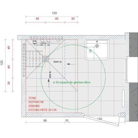 incroyable plan salle de bain handicape id es de design maison et id es de meubles. Black Bedroom Furniture Sets. Home Design Ideas